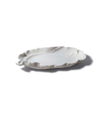 Naturo. -snack Tray (white) Lladro Figurine