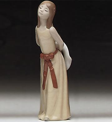 Naughty-girl With Straw H Lladro Figurine