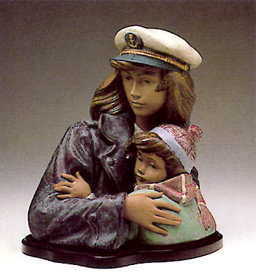 Nautical Watch With Base Lladro Figurine