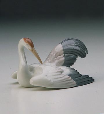 Nesting Crane Lladro Figurine