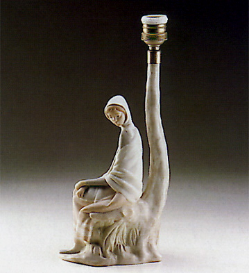 New Shepherdess (lamp) Lladro Figurine