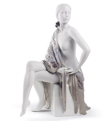Nude With Shawl (re-deco) Lladro Figurine
