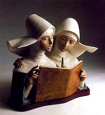 Nuns Singing -b- Lladro Figurine