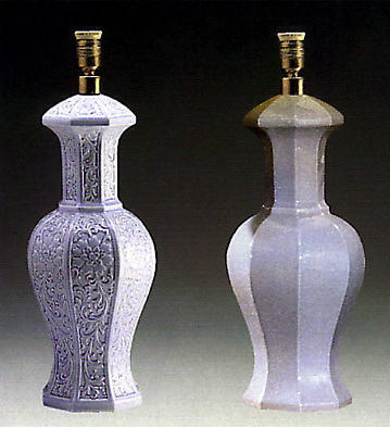 Octogonal Jar Blue (lamp) Lladro Figurine