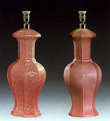 Octogonal Jar Pink (lamp) Lladro Figurine