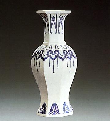 Octogonal Jar White Lladro Figurine