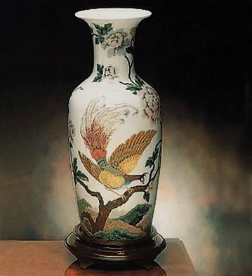 Oriental Bird Vase Lladro Figurine