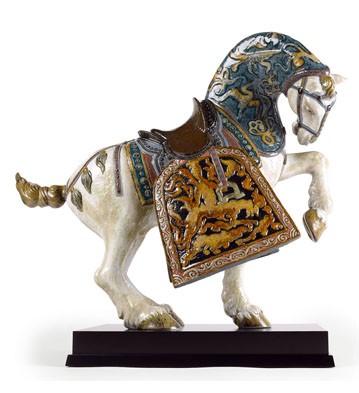 Oriental Horse (glazed) Lladro Figurine