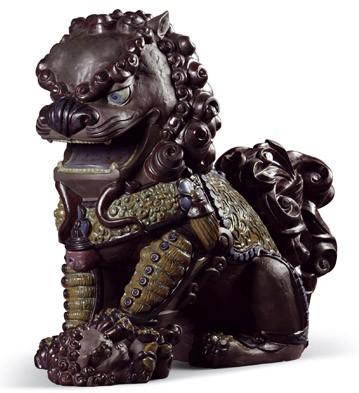Oriental Lioness (black) Lladro Figurine