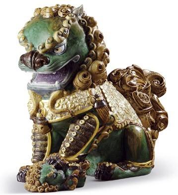 Oriental Lioness (green) Lladro Figurine