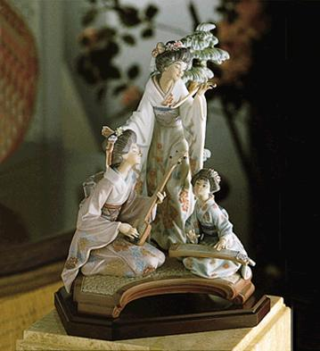 Oriental Music Lladro Figurine