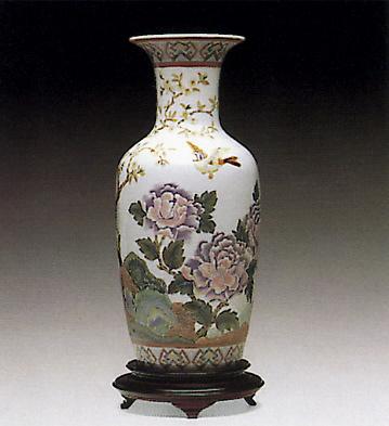 Oriental Peonies Vase 1 Lladro Figurine