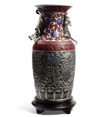 Oriental Vase (blue) Lladro Figurine