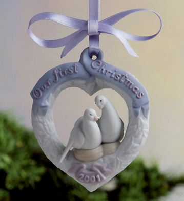Our First Christmas 2001 Lladro Figurine