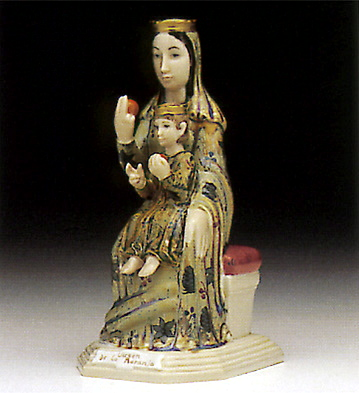 Our Lady With An Orange Lladro Figurine