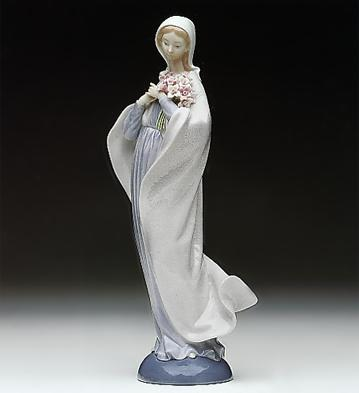 Our Lady With Flowers Lladro Figurine