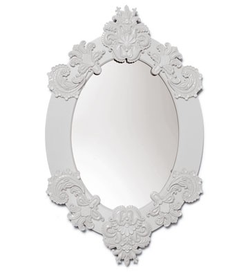 Oval Mirror (white) Lladro Figurine
