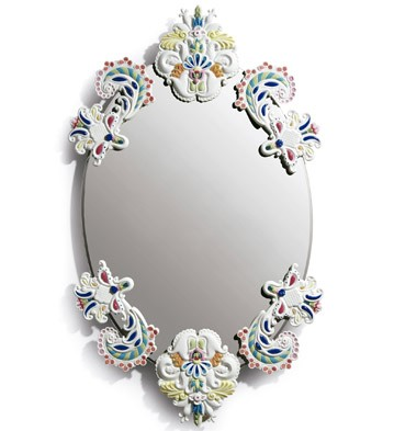 Oval Mirror Without Frame (multicolor) Lladro Figurine