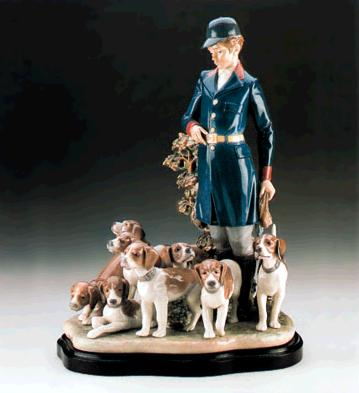 Pack Of Hunting Dogs Lladro Figurine