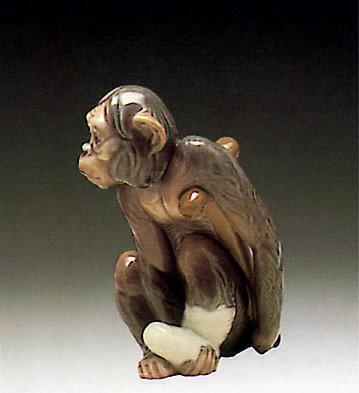 Painful Monkey Lladro Figurine