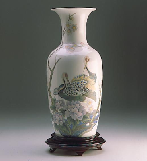 Peacock Vase Lladro Figurine