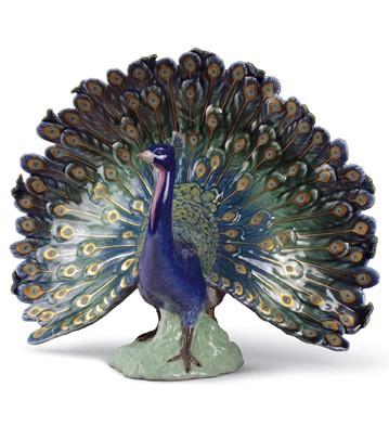 Peacock Lladro Figurine