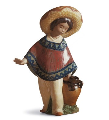 Pedro With Jug Lladro Figurine