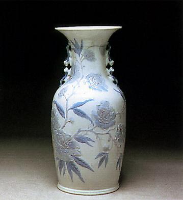 Pekin Vase W/butterflies Lladro Figurine