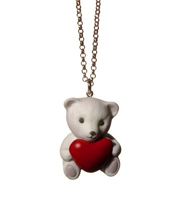 Pendant Bear With Red Heart Lladro Figurine