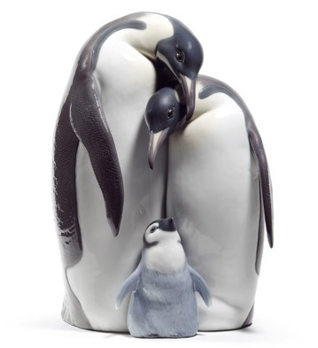 Penguin Family Lladro Figurine
