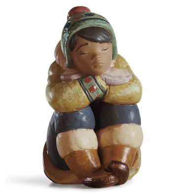 Pensive Eskimo Boy Lladro Figurine