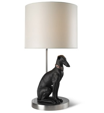 Pensive Greyhound - Lamp (us) Lladro Figurine