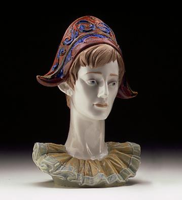 Pensive Harlequin Lladro Figurine