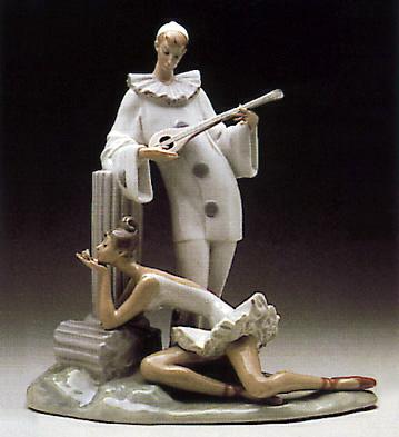 Pensive Pierrot Lladro Figurine