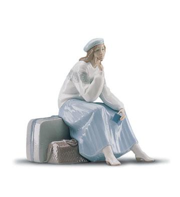 Pensive Traveller Lladro Figurine