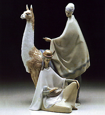 Peruvian Group Lladro Figurine