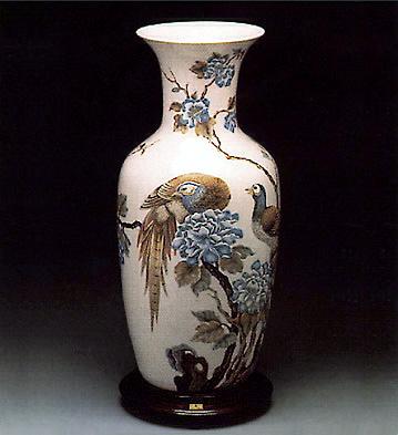 Pheasant Vase (l.e.) (b) Lladro Figurine