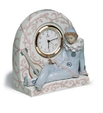 Pierrot Clock Lladro Figurine