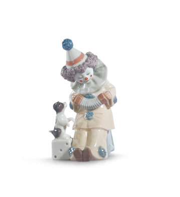 Pierrot With Concertina Lladro Figurine