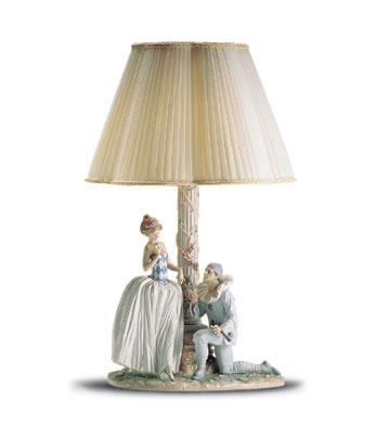 Pierrot's Proposal. Lamp Lladro Figurine