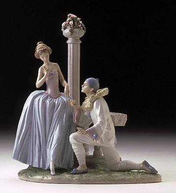 Pierrot's Proposal Lladro Figurine