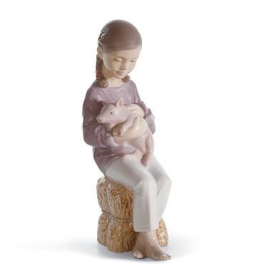 Pigtails Lladro Figurine