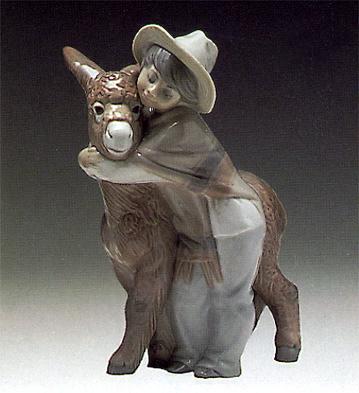 Platero And Marcelino Lladro Figurine