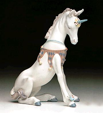 Playful Unicorn Lladro Figurine