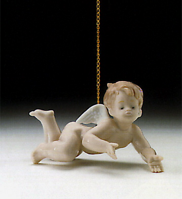 Playing Cherub Lladro Figurine