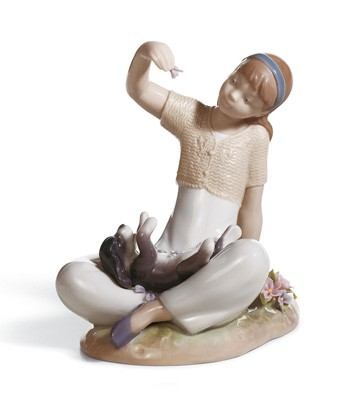 Playtime With Petals Lladro Figurine