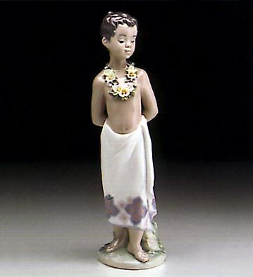 Polynesian Boy Lladro Figurine