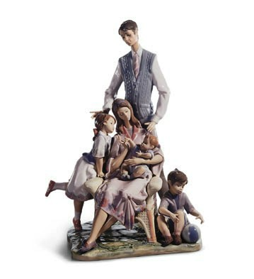 Portrait Of A Family Lladro Figurine