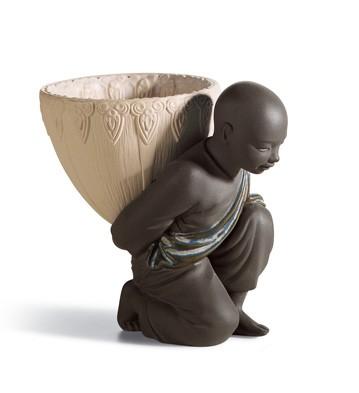 Potpourri Gift (black) Lladro Figurine