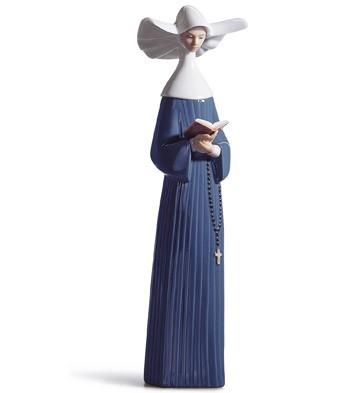 Prayerful Moment (blue) Lladro Figurine